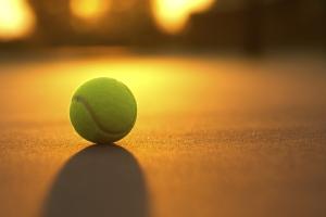Tennis Ball at Sunset